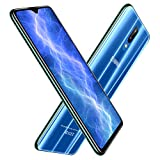 Moviles Libres 4G,6.26 Pulgadas 64GB+4GB RAM,4800mAh Bateria 12MP Camara Android 8.1 Face ID Dual Sim Smartphone Libres DUODUOGO S10 (Azul)