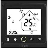 Decdeal - Termostato WiFi para caldera de Gas/Agua – Termostato Inteligente programable - Función de Control de Voz - Compati