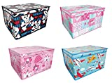 Kids Children's Jumbo Large Toy Box Storage Box Chest Boxs Foldable Room Tidy Chest Trunk With Lid (Boys Planes) by qasco