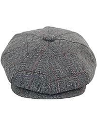 Casquette béret homme tweed carreaux style Peaky Blinders chapeau grand père 73ce1d48947