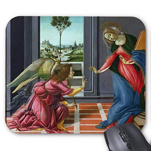 Sandro Botticelli Tapis de Souris Rond en Caoutchouc antidérapant pour Ordinateur Portabl