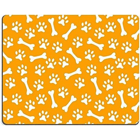 Liili Mouse Pad in gomma naturale mousepad immagine ID: 28458965animale Seamless Vector Pattern di Paw Footprint e ossa Endless Texture può essere utilizzato per stampa su tessuto pagina web sfondo e carta o - Paw Stampe