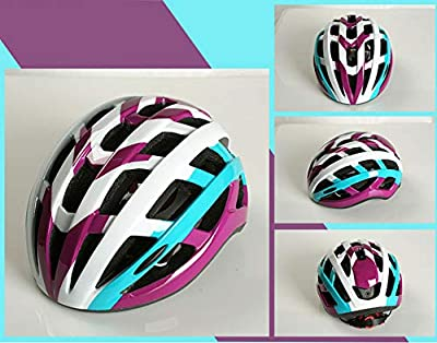 chenyu Bike Helmet, Adult Cycling Bicycle Ultralight Stable Road/Mountain Bike Cycle Helmets For Mens Womens Adjustable 56cm - 61cm (Purple) from chenyu