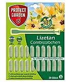 PROTECT GARDEN Lizetan Combistäbchen (ehem. Bayer Garten), Insektenabwehr für Zimmer- und Balkonpflanzen, 20 Stück