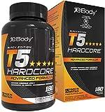 T5 Hardcore quemagrasas potente para adelgazar para hombres y mujeres el cual contiene L-tirosina, cromo, vitamina B6 y extractos botánicos, Mens Health Review & Hecho en el Reino Unido (180 cápsulas vegetarianas)