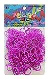 Rainbow Loom Silikonbänder Neon Lila