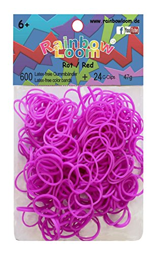 Rainbow Loom Silikonbänder Neon Lila Gummi Neon