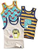 Vaenait baby 86-122 Jungen Kinder Unterhemd 3-Packung Top Undershirts Set Dinoland Cream M