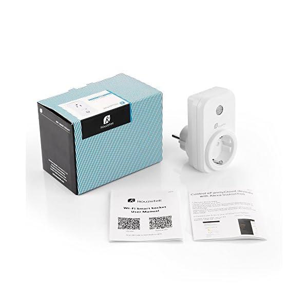 Presa-Intelligente-Houzetek-Smart-Wifi-Plug-con-supporto-APP-Alexa-Google-Home-Wifi-programmabile-Plug-IFTTT-Telecomando-per-voce-Smart-Home-Plug-Wifi-per-casa