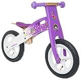 BIKESTAR® Premium 30.5cm (12 pulgadas) Bicicleta sin pedales para las princesas mas pequeñas a partir de los 3 años ★ Edición de madera natural ★ Lila & Blanco