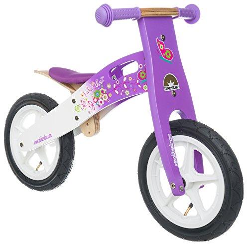 BIKESTAR® 30.5cm (12 pouces) Bois Vélo Draisienne pour enfants ★ Couleur Lilas & Blanc