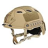 Casco di sicurezza leggero regolabile casco tattico militare protezione testa per outdoor Airsoft...