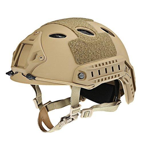 Casco de seguridad ligero ajustable casco táctico militar Head Protector para al...