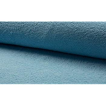 Double Sided Cotton TERRY TOWELLING Fabric Material NAVY