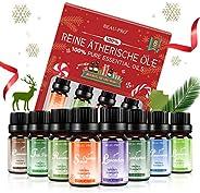 Aceites Esenciales 100% Puros Naturales, 8 * 10ml Set de Aromaterapia Aceites Esenciales para Humidificador y