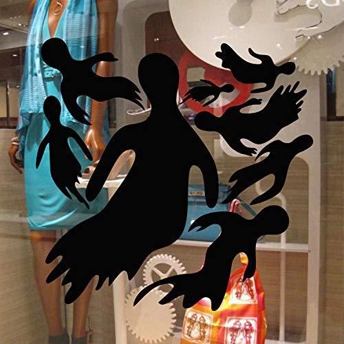 Wandaufkleber PVC Selbstklebend Abnehmbare Wasserdichte Tapete Dekorpapier, eine Generation von Wandgemälden_9565 Halloween Teufel Glas Dekorwand Abnehmbare Dekorpapier