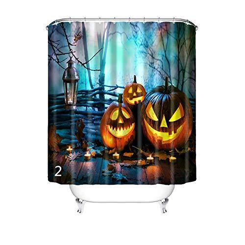 (Beydodo 3D Duschvorhang Antischimmel 165x180 Halloween-Style Vintage Duschvorhang)