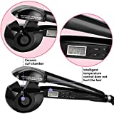 Krea Easy Curler Pro With Lcd Display And Ceramide Advantage For Less Damage - Black