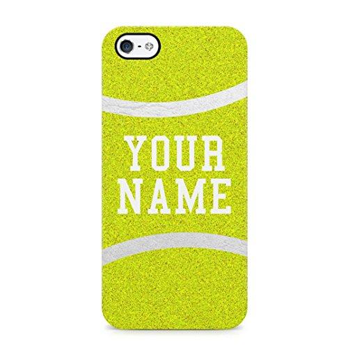 Tennis Ball Case Personalised Customizable Custom Name Initial Text Gift Present Schutzhülle aus Hartplastik Handy Hülle für iPhone 5 / iPhone 5s / iPhone SE Case Hard Cover -