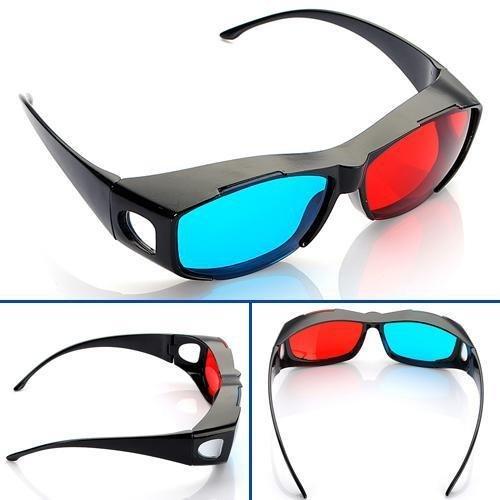 Rot Blau Cyan NVIDIA 3D Brille Glasses Vision Anaglyphe für Kamera Film