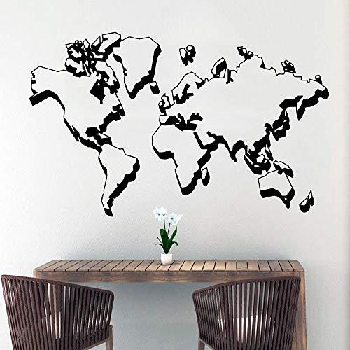 WSYYW Cartoon Weltkarte Wandaufkleber Moderne Mode Wandaufkleber Kinderzimmer Dekoration Wandkunst Aufkleber Wandaufkleber Grau M 28 cm X 45 cm