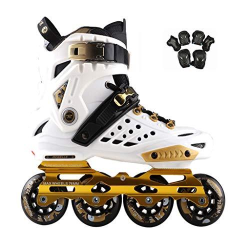 Rollerblades Damen,Im Freien Jugend Herren Damen Inline Skate Lila, Weiß (Color : White, Size : 43 EU)