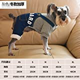 Y-Hui Hund Kleidung neue Herbst und Winter Teddy Vip-kleiner Hund Welpe Hund Kleidung vier Strap Cowboy Drucken, L