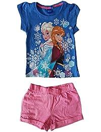 Disney - Junto Camisetas + pantalones cortos Frozen El reino del hielo - 4 ANS, Bleu
