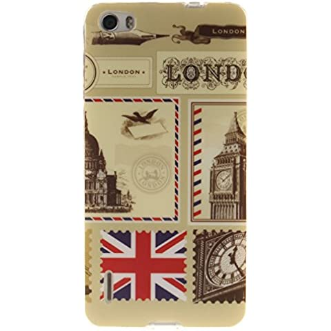 Custodia Honor 6, Honor 6 Soft Cover Case, Cozy Hut Ultra Sottile Silicone Custodia Morbido Flessibile case cover Huawei Honor 6 Protettivo Skin UltraSlim TPU Caso con Elegant Printing Drawing Design Pattern per Huawei Honor 6 - buste Londra