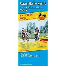 Saarpfalz-Kreis mit Biosphärenreservat Bliesgau: Radwanderkarte mit Ausflugszielen, Einkehr- & Freizeittipps, wetterfest, reißfest, abwischbar, GPS-genau. 1:50000 (Radkarte / RK)