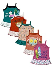 MYFAA Baby Girls' Frocks - Pack of 5