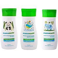 Mamaearth Baby Natural Shampoo 200ml & Baby Lotion 200m With Baby Nursing Body Wash 100ml