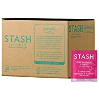 Stash Tea Wild Raspberry Hibiscus Herbal Tea, 100 Count Box of Tea Bags in Foil