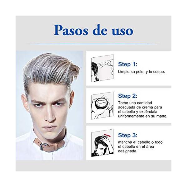 Y.F.M Tinte de Pelo Gris Cera Cabello Para Pelo Gris Plata, Crema Para Colorante Pelo Temporal, Silver Gray Hair Color…