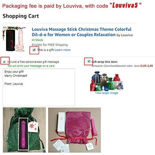 Louviva Vibrator: Klitoris und G Punkt Stimulation – 10 Frequenzschwigung – Starke Klitorisstimulator – Medizinisches Silikon – 100% Wasserdicht – Elektrische handgehalten USB-Auflade(rosa) - 3