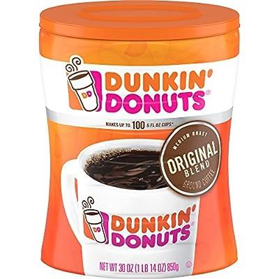 Dunkin Donuts Original Blend Medium Roast Ground Coffee Canister 850g