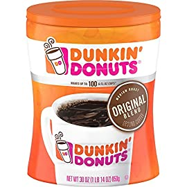 Dunkin Donuts Original Blend Medium Roast Ground Coffee Canister 850g