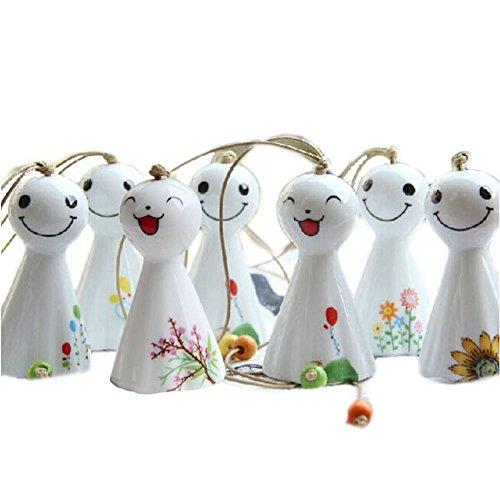 somarke japonés jardín de muñecas Sunny Chimes cerámica viento Juego de campanillas, 7