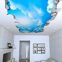 Idea Regalo - Carta da Parati 3D Effetto (87 x 48 cm, Adesivi Murali Cielo 3D Effetto Soffitto)