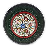 Orientalische Keramikschale Schale/Schüssel / Geschirr/Snackschale / Dipschale Handbemalt dunkelgrün (12cm)