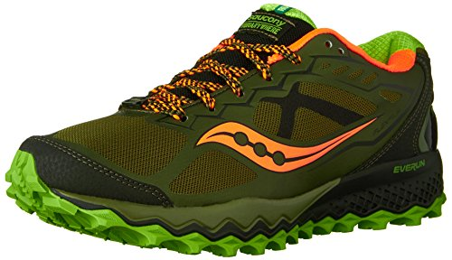 Saucony Peregrine 6, Chaussures de Trail Homme Olive / Green / Orange