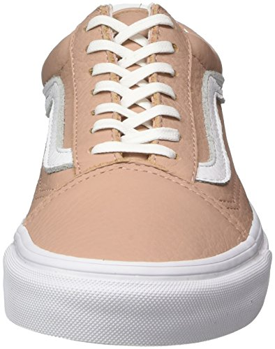 Vans Damen Old Skool Leather Sneaker Pink (Tumble Leather/ Mahogany Rose/true White)