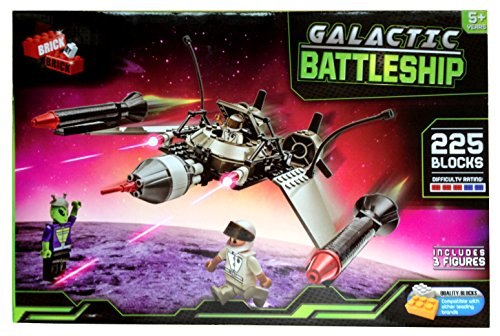 Galactic-Battleship-Construction-Blocks-Set-225-Pieces-Brand-New-Sealed