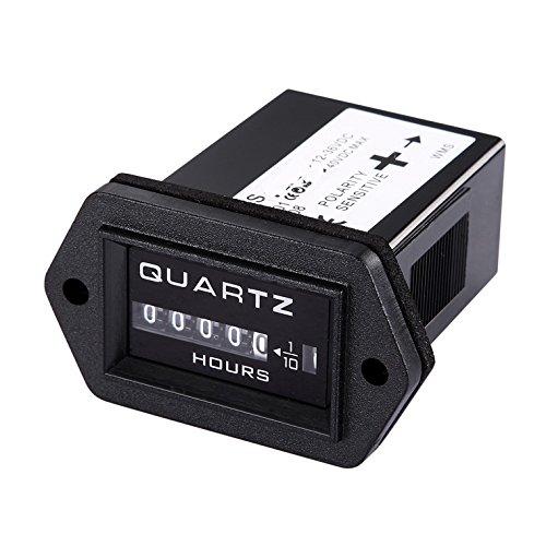 Preisvergleich Produktbild Qiorange Digital Betriebsstundenzähler Stundenzähler Zeitzähler Traktor Boot DC 12V-36V (Square)