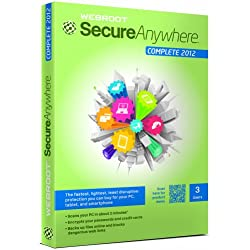 Webroot SecureAnywhere Complete 2012, 3 User, 1 Year Subscription (PC)