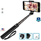 MGM Next Gen Compact Wired Selfie Stick For IPhone And Android - Black - One Year Warranty