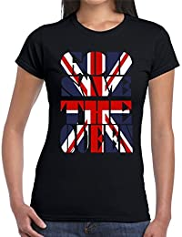 Velocitee Ladies T-Shirt God Save The Queen Union Jack Flag V137