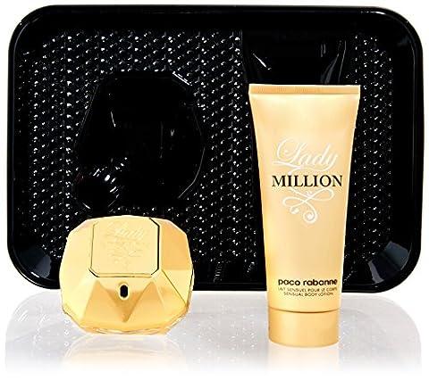 Paco Rabanne P0904020 Lady Million Kit Eau de Parfum + Lotion Corporelle 100 ml