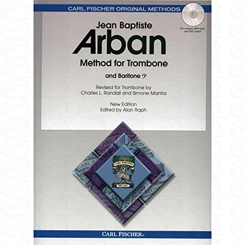 METHOD FOR TROMBONE / BARITONE - arrangiert für Posaune - (Bariton) - mit CD [Noten/Sheetmusic] Komponist : ARBAN JEAN BAPTISTE