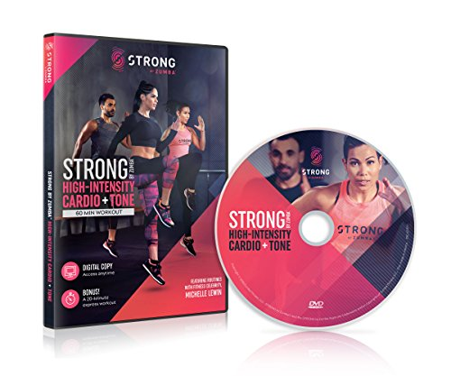 Strong by Zumba Solide par Zumba Haute intensité Cardio & Tone 60Min Séance d'entraînement DVD avec Michelle Lew